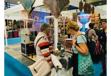 حضور ترمه حسینی یرد در نمایشگاه صنایع دستی برلین