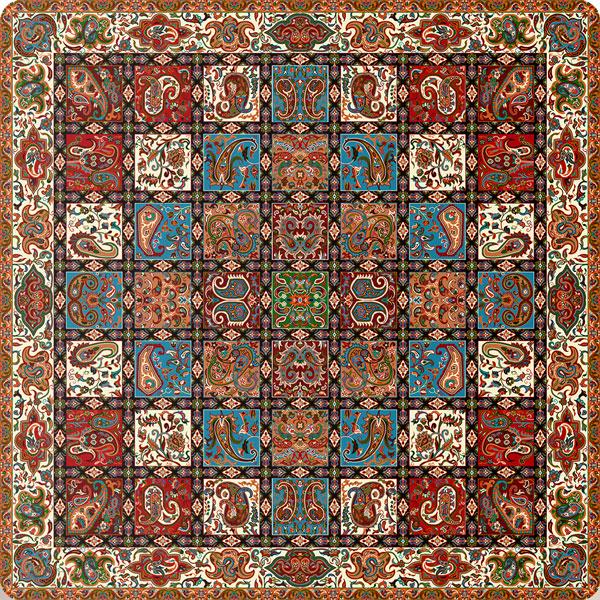 رومیزی مربع ترمه طرح امپراطور کد 1005
