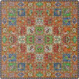 رومیزی مربع ترمه طرح امپراطور کد 1006