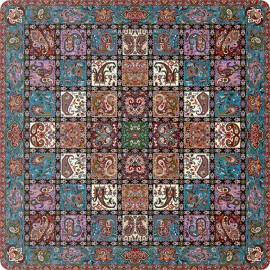 رومیزی مربع ترمه طرح امپراطور کد 1008