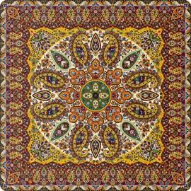 رومیزی مربع ترمه طرح سپنتا کد 851
