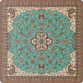 رومیزی مربع ترمه طرح شاه عباسی کد 617