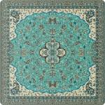رومیزی مربع ترمه طرح شاه عباسی کد 618