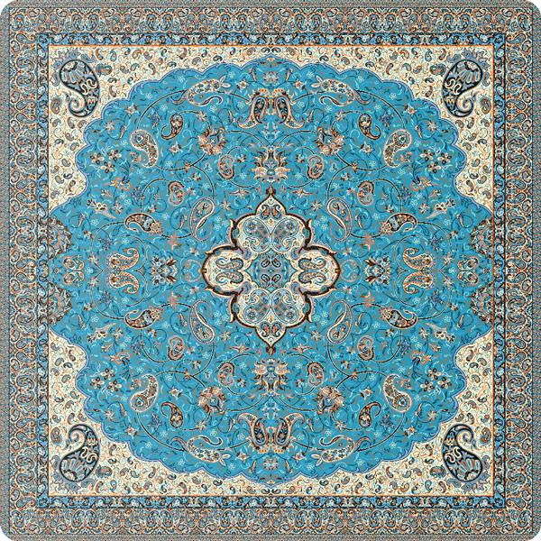 رومیزی مربع ترمه طرح شاه عباسی کد 807
