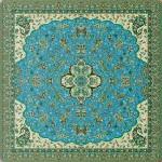 رومیزی مربع ترمه طرح شاه عباسی کد 814