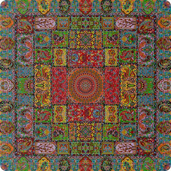 رومیزی مربع ترمه طرح وصال کد 805