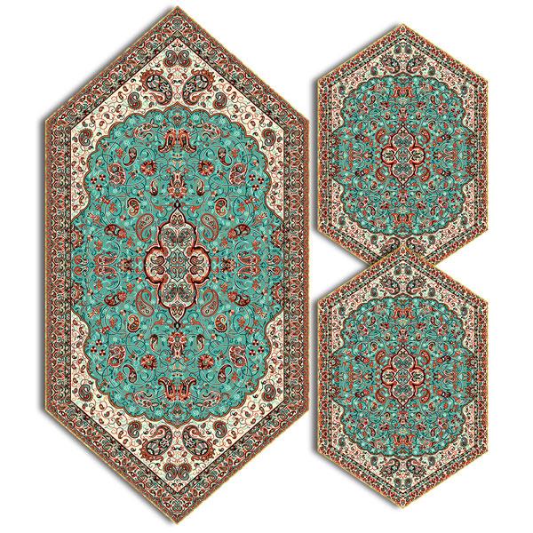 سری سه تکه ترمه طرح شاه عباسی کد 617