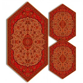 سری سه تکه ترمه طرح شاه عباسی کد 833