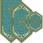 سری چهار تکه ترمه طرح شاه عباسی کد 814